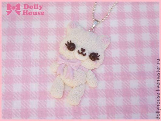 """Колье, бусы ручной работы. Ярмарка Мастеров - ручная работа. Купить Колье """"Cutie Cat"""". Handmade. Dolly house"""