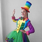 Одежда handmade. Livemaster - original item Rainbow-Clown girl. Scenic suit/Cosplay/Carnival costume. Handmade.