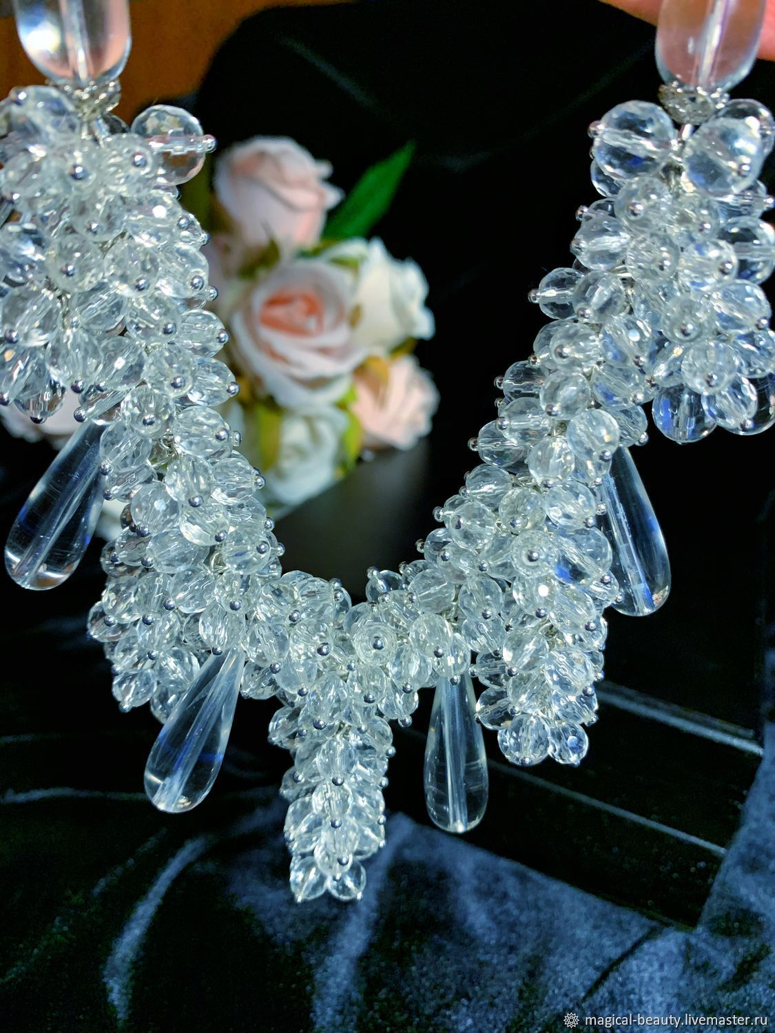 Necklace with rock crystal ' Wisteria», Necklace, Moscow,  Фото №1