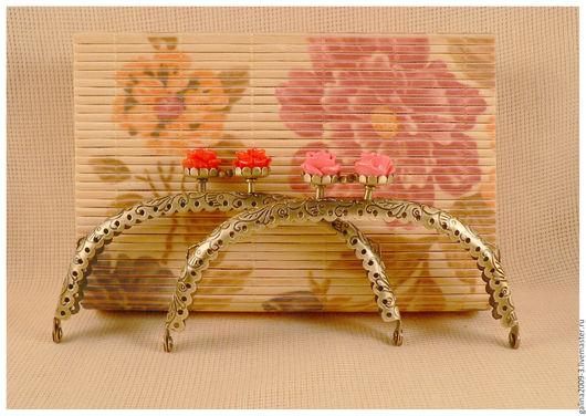 Другие виды рукоделия ручной работы. Ярмарка Мастеров - ручная работа. Купить Фермуар 12,5 см., с розами.. Handmade.