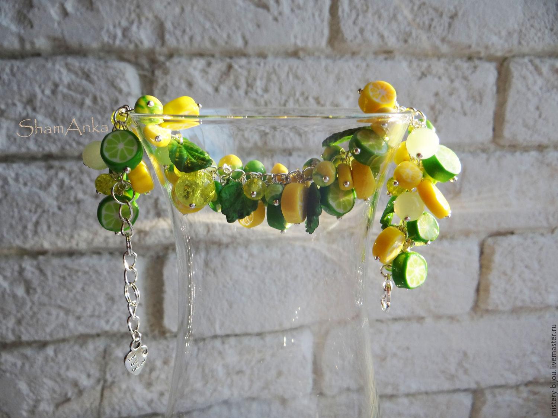 Браслет Лимонад из полимерной глины