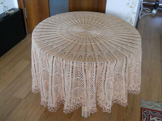 Текстиль, ковры ручной работы. Ярмарка Мастеров - ручная работа. Купить Скатерть вязаная. Handmade. Вязаная скатерть, подарок