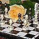 Шахматы подарочные  Симфония(малые), шахматы расписные, роспись по дереву, ручная работа,шахматные фигуры, ферзь, королева. Шахматная доска, купить шахматы, купить шахматы в Петербурге . Каисса.