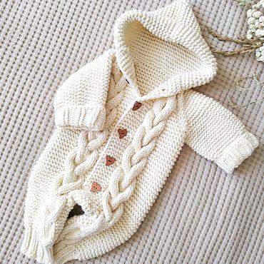 Товары для малышей ручной работы. Ярмарка Мастеров - ручная работа Комбинезон вязаный для малыша. Handmade.