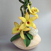 Цветы и флористика ручной работы. Ярмарка Мастеров - ручная работа МК Бамбук и ванильная орхидея из фоамирана. Handmade.