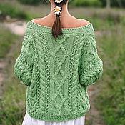 Одежда handmade. Livemaster - original item Jackets: Summer jacket in the color of green apple oversize. Handmade.