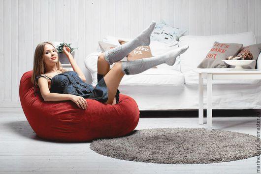 """Мебель ручной работы. Ярмарка Мастеров - ручная работа. Купить Кресло-мешок """"Бельгия"""". Handmade. Бордовый, кресло-мешок, подушка"""