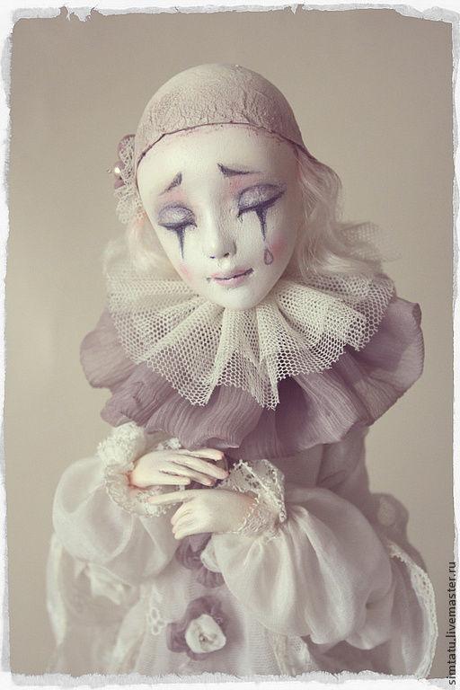 Коллекционные куклы ручной работы. Ярмарка Мастеров - ручная работа. Купить Влюбленный Пьеро. Handmade. Белый, кукла в подарок