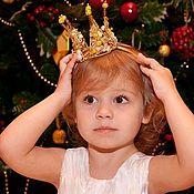 Диадемы ручной работы. Ярмарка Мастеров - ручная работа Золотая маленькая корона. Handmade.