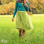 """Одежда ручной работы. Ярмарка Мастеров - ручная работа Юбка-пачка """"Бриджит"""" зеленая. Handmade."""
