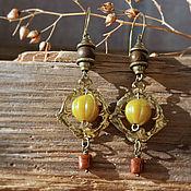 handmade. Livemaster - original item Classic earrings: with vintage Gooseberry pendants». Handmade.