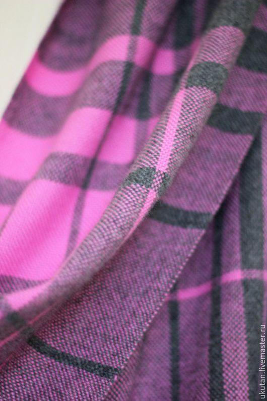 """Шали, палантины ручной работы. Ярмарка Мастеров - ручная работа. Купить Домотканый шарф-палантин """"Олеандр"""". Handmade. Разноцветный, в клеточку"""