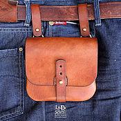 Сумки и аксессуары handmade. Livemaster - original item pouch belt leather fashion the b-52. Handmade.