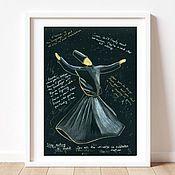 Картины и панно handmade. Livemaster - original item Dancing Dervish. Handmade.
