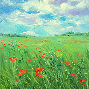 Картины и панно handmade. Livemaster - original item Oil painting on canvas. Summer. Handmade.