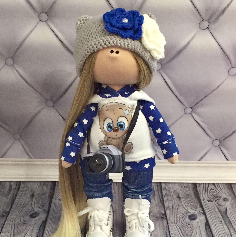 Текстильная кукла ручной работы, Тыквоголовка, Вельск,  Фото №1