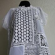 Блузки ручной работы. Ярмарка Мастеров - ручная работа Блуза Многоообразие белого. Handmade.