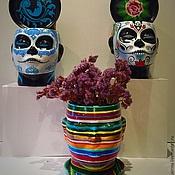 """Цветы и флористика ручной работы. Ярмарка Мастеров - ручная работа Кашпо """"Голова девы"""". Handmade."""