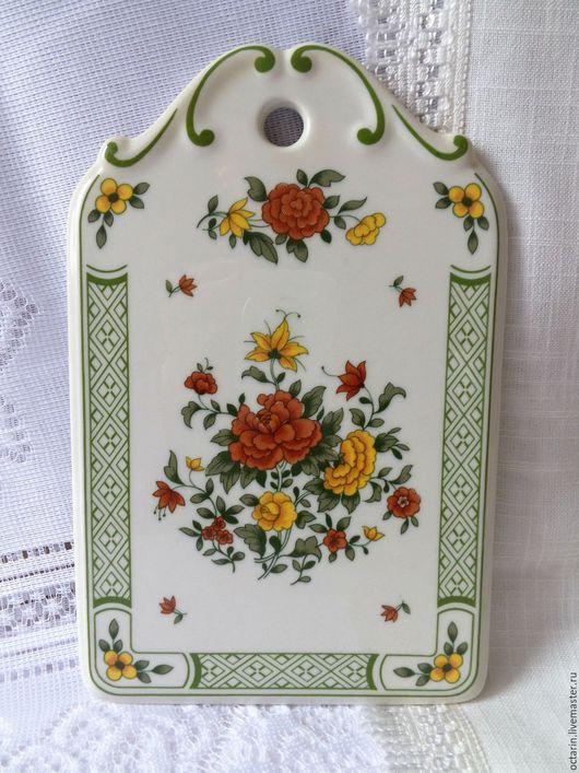 Винтажная посуда. Ярмарка Мастеров - ручная работа. Купить Доска разделочная,фарфор, винтаж,«Villeroy Boch», Германия. Handmade.