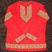 Русский стиль handmade. Livemaster - original item Shirt linen protective. Handmade.