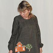 Одежда ручной работы. Ярмарка Мастеров - ручная работа Платье из шерсти Города П-143. Handmade.