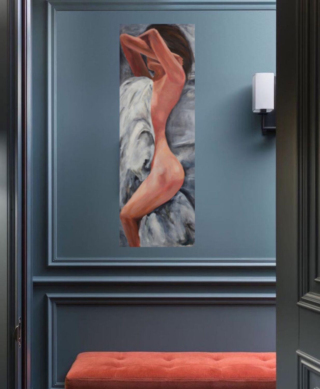 Картина девушка в интерьер «Меж простыней», Картины, Казань,  Фото №1