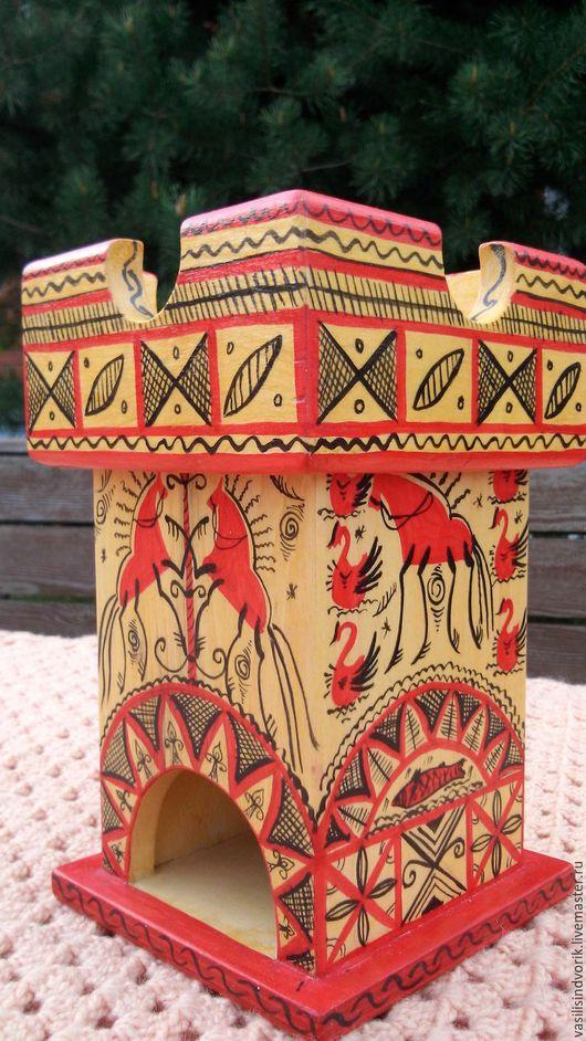 """Кухня ручной работы. Ярмарка Мастеров - ручная работа. Купить Чайный домик """"Традиции Севера"""". Handmade. Ярко-красный, для кухни"""