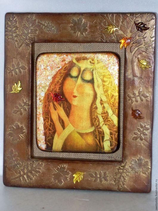 Символизм ручной работы. Ярмарка Мастеров - ручная работа. Купить Ангел Осени. Handmade. Арт-объект, Осенние цвета, девушка