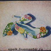 Картины и панно ручной работы. Ярмарка Мастеров - ручная работа Туфельки для цветочной феи. Handmade.