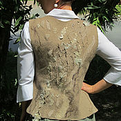 """Одежда ручной работы. Ярмарка Мастеров - ручная работа Жилет """"Миндальный поток"""". Handmade."""