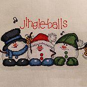 """Картины ручной работы. Ярмарка Мастеров - ручная работа Вышивка """"Jingle-balls"""". Handmade."""