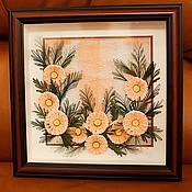 """Картины и панно ручной работы. Ярмарка Мастеров - ручная работа Панно """"Космеи"""". Handmade."""