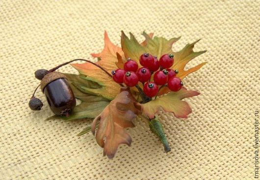 """Броши ручной работы. Ярмарка Мастеров - ручная работа. Купить Брошь """"Осенний солнцедень"""". Handmade. Оранжевый, украшение на пальто, лес"""