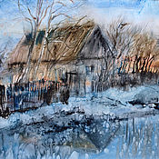 Картины и панно handmade. Livemaster - original item Watercolor painting Spring morning. Spring landscape.. Handmade.
