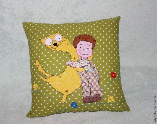 """Текстиль, ковры ручной работы. Ярмарка Мастеров - ручная работа. Купить Подушка """" Я тебя люблю 2"""". Handmade."""