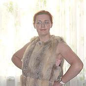 Одежда ручной работы. Ярмарка Мастеров - ручная работа Жилет из лисы-корсак. Handmade.