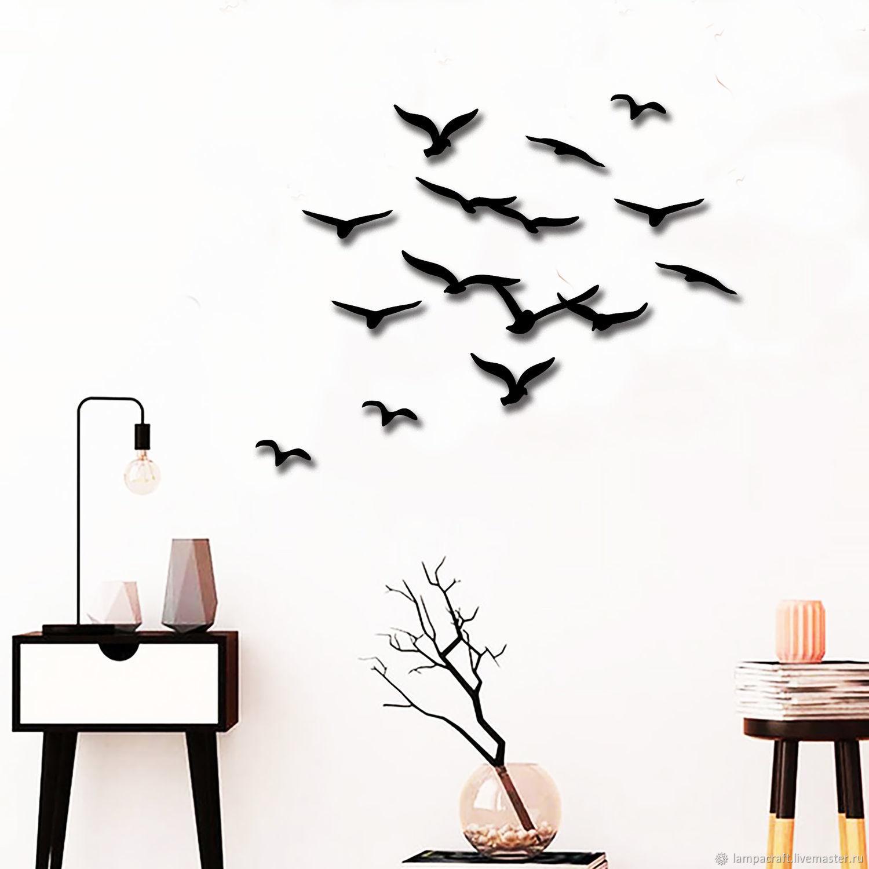 Декор  из металла -Стая Птиц- на стену-панно для декора, Панно, Красноярск,  Фото №1