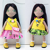Куклы и игрушки handmade. Livemaster - original item Textile doll baby with a set of clothes and a bag. Handmade.