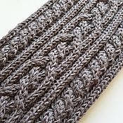Аксессуары handmade. Livemaster - original item Knitted Snood scarf with braids