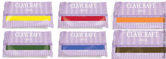 Другие виды рукоделия ручной работы. Ярмарка Мастеров - ручная работа. Купить Полимерная глина CLAYCRAFT by DECO цветная. Handmade.