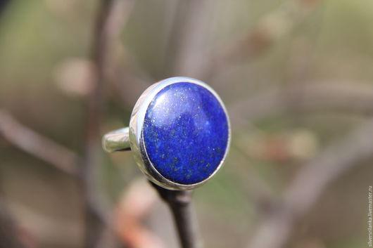 Кольца ручной работы. Ярмарка Мастеров - ручная работа. Купить Кольцо с натуральным лазуритом (р-р 18,25). Handmade.