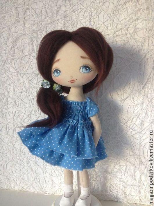 Коллекционные куклы ручной работы. Ярмарка Мастеров - ручная работа. Купить Кукла малышка Леночка. Handmade. Голубой, текстильная кукла