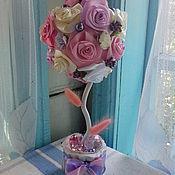 Цветы и флористика ручной работы. Ярмарка Мастеров - ручная работа Нежный лиловый топиарий. Handmade.