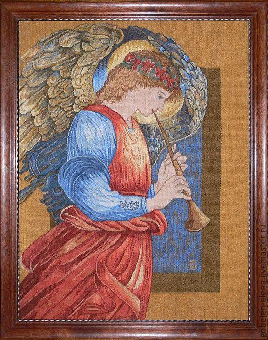 """Люди, ручной работы. Ярмарка Мастеров - ручная работа. Купить Гобелен ручной работы """"Ангел"""". Handmade. Гобелен, ручное ткачество"""