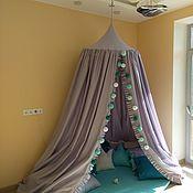 """Подарок новорожденному ручной работы. Ярмарка Мастеров - ручная работа Игровой комплект """"Марта"""": Шатёр /балдахин, игровой коврик и 17 подушек. Handmade."""