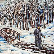 """Картины и панно ручной работы. Ярмарка Мастеров - ручная работа Картина """"Зимняя прогулка"""". Handmade."""