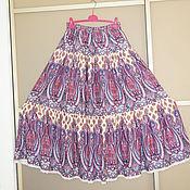 Одежда ручной работы. Ярмарка Мастеров - ручная работа Юбка штапель фиолет. Handmade.