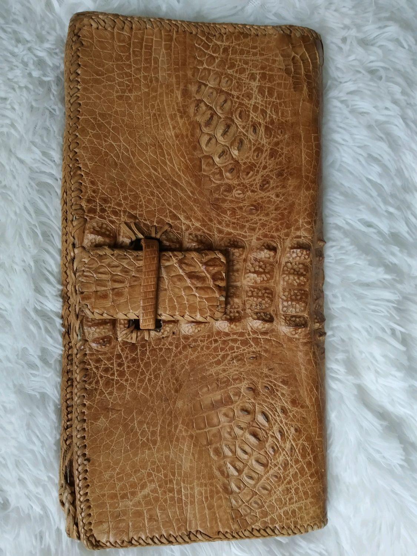 Винтаж: Клатч из натуральной кожи крокодила. Франция, Сумки винтажные, Москва,  Фото №1