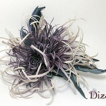 Flowers and floristry handmade. Livemaster - original item Brooch Chrysanthemum. Silk flowers, cloth flowers.. Handmade.