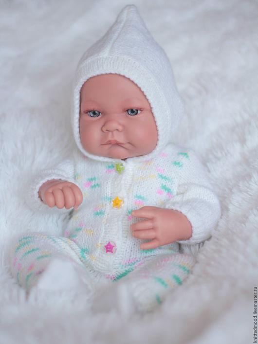 """Одежда для кукол ручной работы. Ярмарка Мастеров - ручная работа. Купить Комбинезон для куклы """"Звездочка"""". Handmade. Белый, звездочка"""